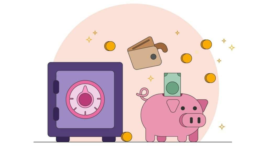 Geld sparen 2 Konten Modell