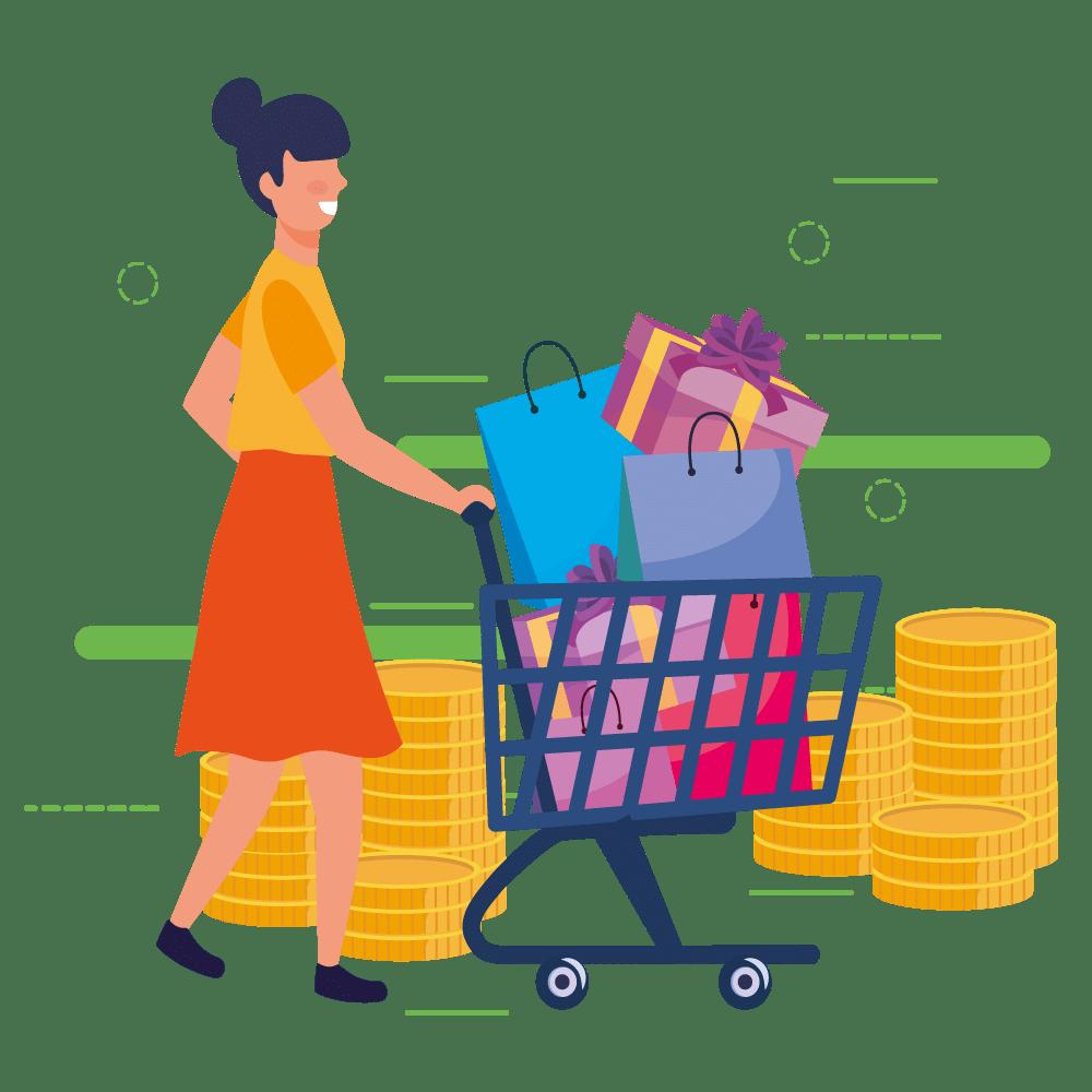 Fürs Einkaufen belohnt werden