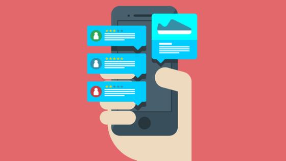 Smartphone mit Pushup Nachrichten zu neuen Produkttests